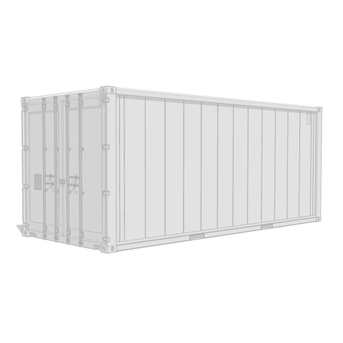 Wolfpack container placeholder white